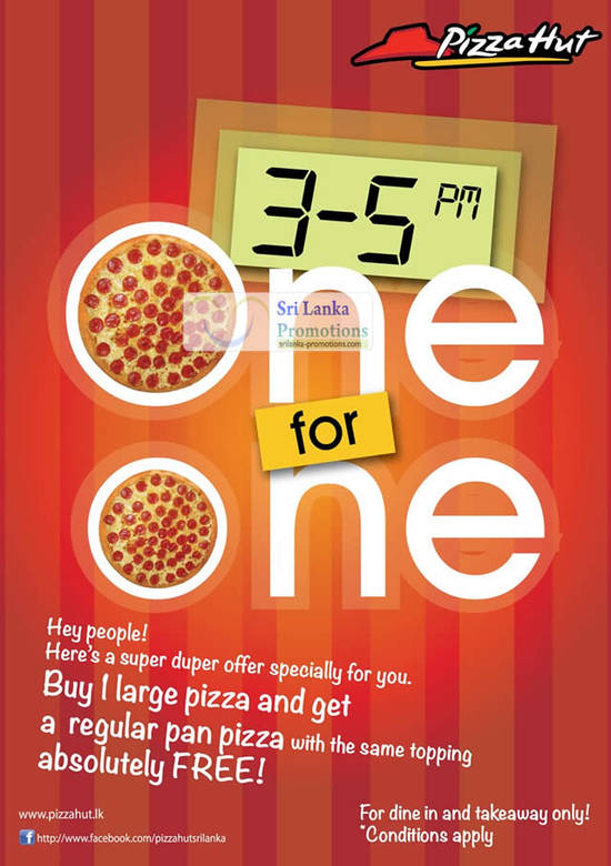 3 Jul One For One Promotion Details