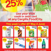 Read more about Cargills Food City 25% Off Selected Products 27 May - 2 Jun 2012
