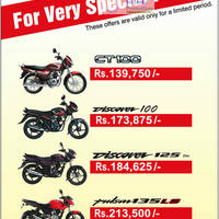 Read more about Bajaj Motorcycles David Pieris Special Prices 29 Jun 2012