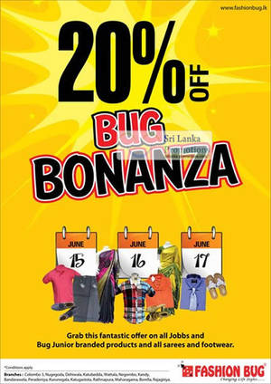 Featured image for Fashion Bug 20% Off Promotion 15 – 17 Jun 2012
