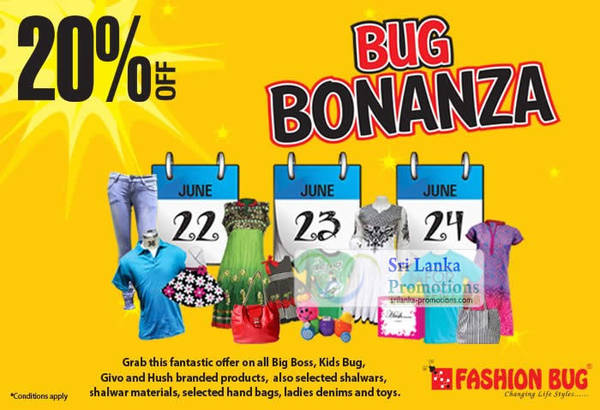 Featured image for Fashion Bug 20% Off Selected Brands 22 – 24 Jun 2012