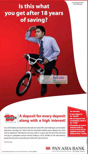 Featured image for Pan Asia Bank Extra 10% Deposit For Every Deposit For Children Accounts 10 Jun 2012