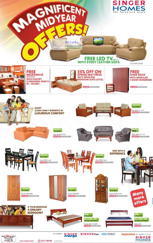 Singer Homes 3 Jun 2012 Singer Homes Mid Year Furniture Promotion 3 Jun 2012 Sri Lanka