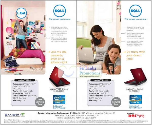 Featured image for Dell Inspiron Notebooks Samson IT Price Offers 30 Jul 2012