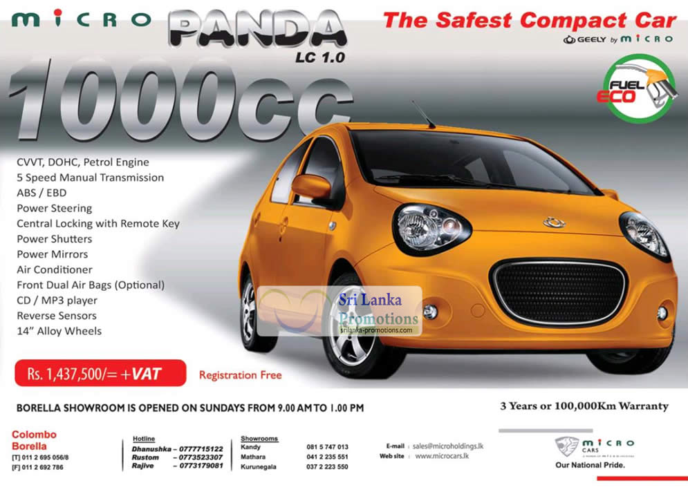 Geely Panda Hatchback Price Offer 8 Jul 2012