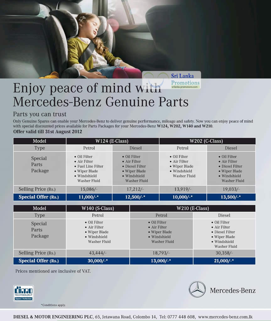 Mercedes benz genuine parts packages offers 15 jul 31 for Genuine mercedes benz parts