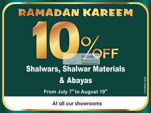 Featured image for Nolimit Sri Lanka 10% Off Shalwars, Shalwar Materials & Abayas 7 Jul – 19 Aug 2012