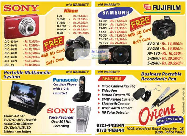 Featured image for Orient Nikon, Sony, Samsung & More Digital Cameras & DSLR Offers 29 Jul 2012