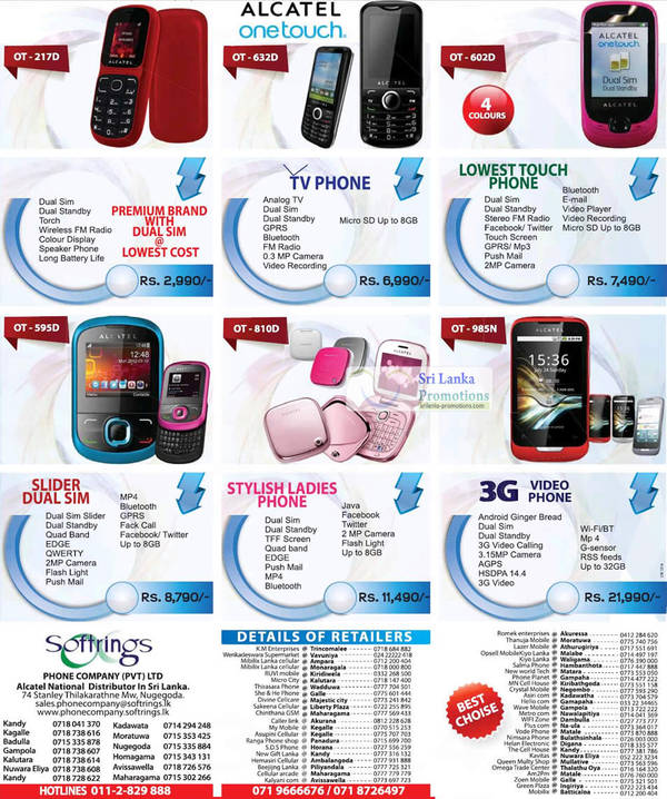Featured image for Alcatel Smartphones & Mobile Phones Softrings Offers 26 Aug 2012