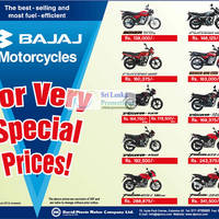Read more about Bajaj Motorcycles David Pieris Price List Offers 4 Aug 2012