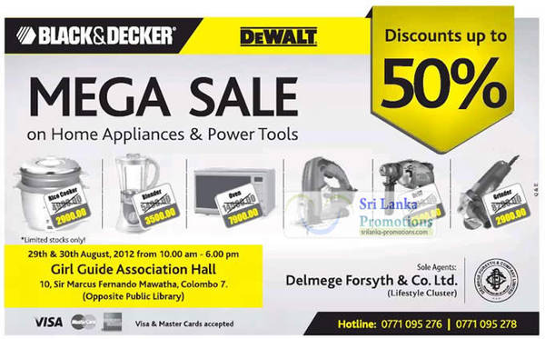 Featured image for Black & Decker Mega Sale Up To 50% Off 29 – 30 Aug 2012