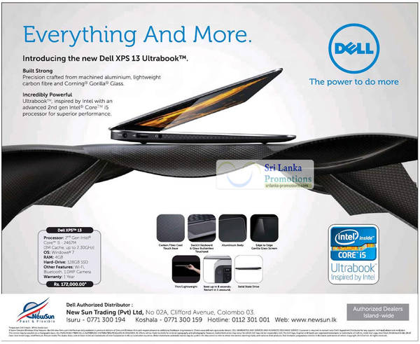 Featured image for Dell Sri Lanka New XPS 13 Ultrabook @ New Sun 28 Aug 2012