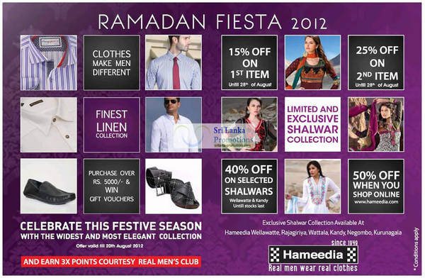 Featured image for Hameedia Ramadan Fiesta Up To 40% Off Promotion Offers 3 – 28 Aug 2012