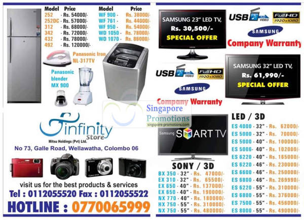Featured image for Infinity Store (Mitsu) Fridge, Washer & TV Offers 26 Aug 2012