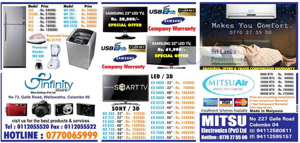 Featured image for Mitsu Electronics TV, Appliances and Air Conditioner Offers 19 Aug 2012