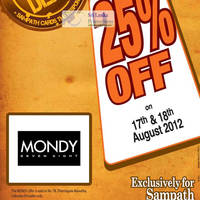 Read more about Mondy 78 20% Off Promotion For Sampath Cardmembers 17 - 18 Aug 2012