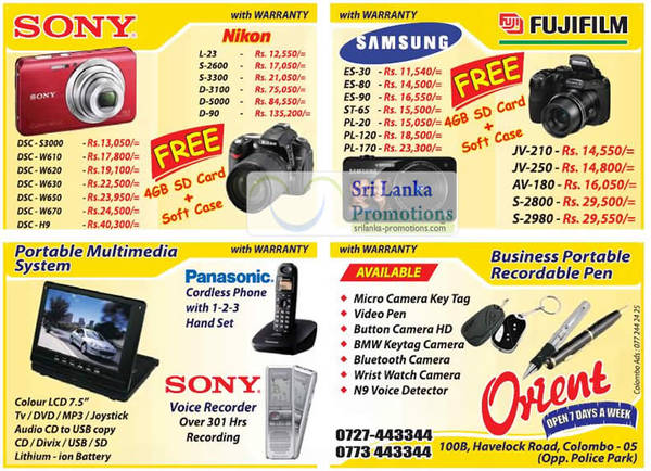 Featured image for Orient Nikon, Sony, Samsung & More Digital Cameras & DSLR Offers 19 Aug 2012