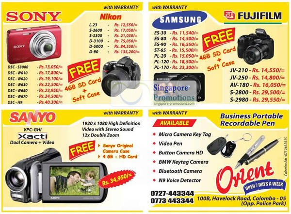 Featured image for Orient Nikon, Sony, Samsung & More Digital Cameras & DSLR Offers 26 Aug 2012