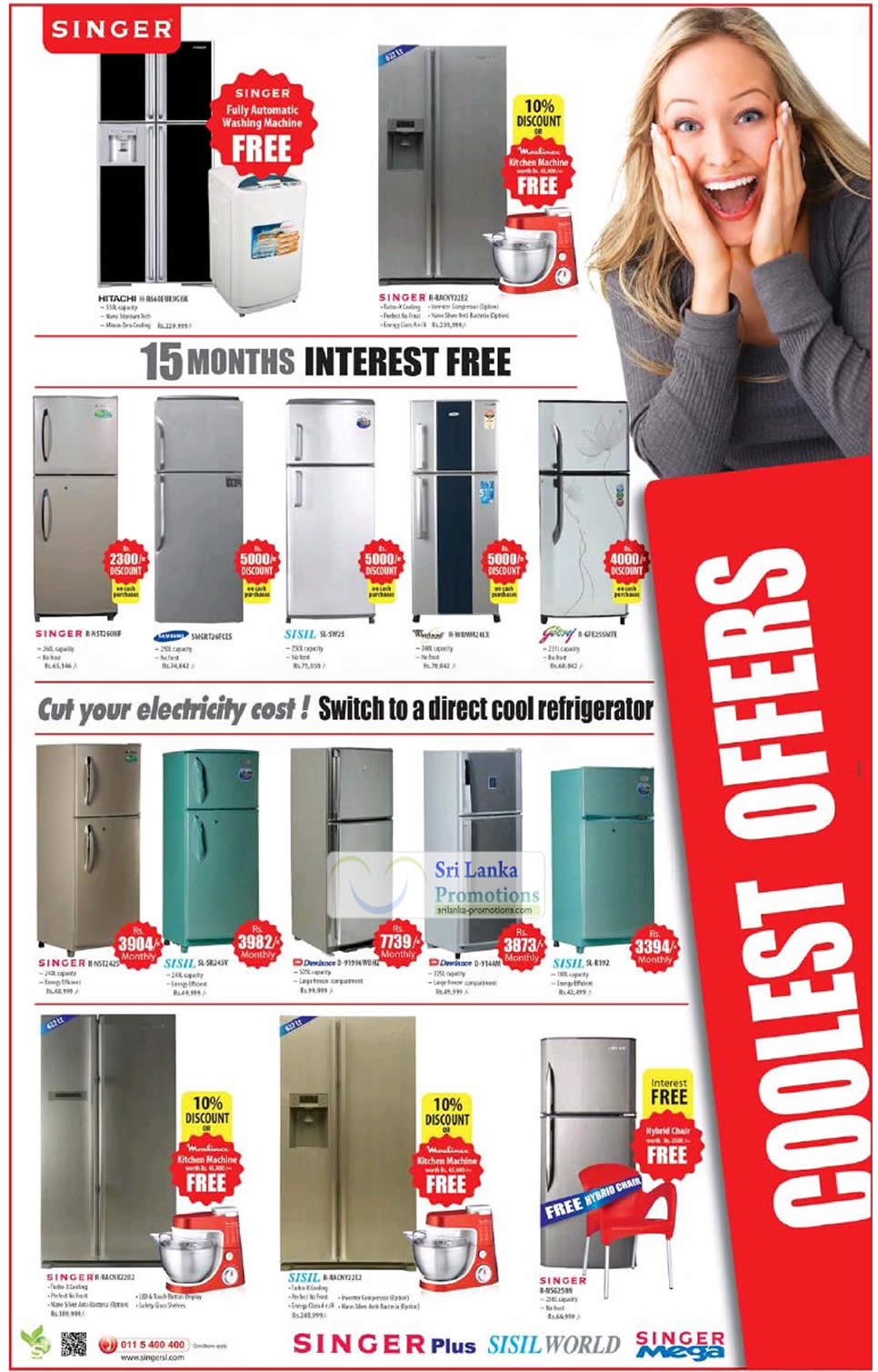 Singer Fridge Refrigerator Promotion Offers 19 Aug 2012