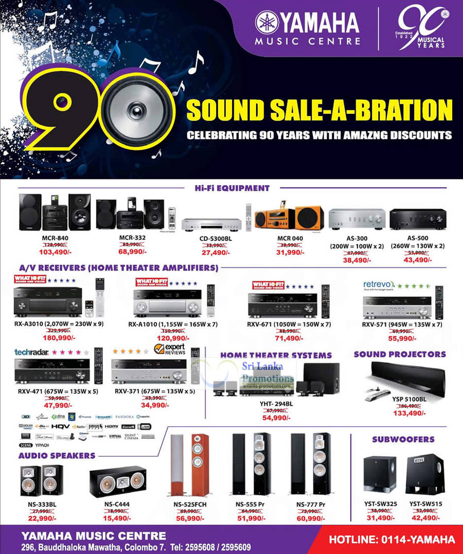 Featured image for Yamaha Music Centre 90th Anniversary Promotion Offers 16 Sep 2012