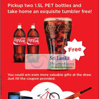 Read more about Coca Cola Free Tumbler With Two 1.5L Bottles @ Cargills Food City 26 Sep - 21 Oct 2012