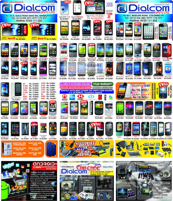 Featured image for Dialcom Samsung, Apple, Sony, Blackberry, HTC & Nokia Phones Price List Offers 2 Sep 2012