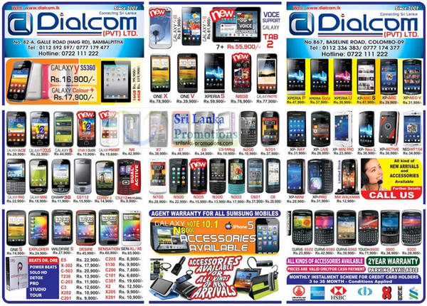 Featured image for Dialcom Samsung, Apple, Sony, Blackberry, HTC & Nokia Phones Price List Offers 30 Sep 2012