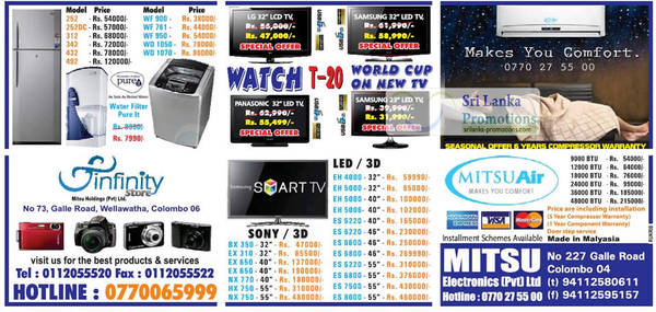 Featured image for Infinity Store (Mitsu) Fridge, Washer & TV Offers 23 Sep 2012