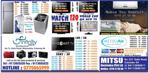 Featured image for Infinity Store (Mitsu) Fridge, Washer & TV Offers 30 Sep 2012