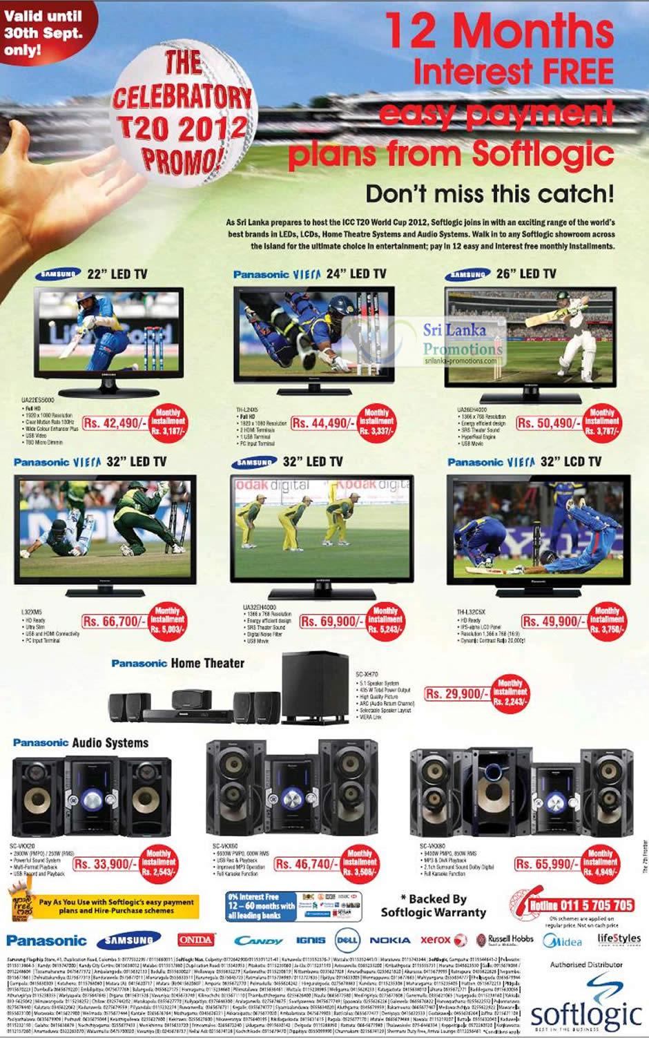 Samsung LED TV UA22ES5000, Panasonic VIERA LED TV TH-L24X5, Panasonic VIERA LED TV L32XM5, Samsung LED TV UA32EK4000, Samsung LED TV UA26EH4000, Panasonic Viera LED TV TH-L32C5X, Panasonic Home Theater SC-XH70, Panasonic Audio System SC-VKX20, Panasonic Audio System SC-VKX60, Panasonic Audio System SC-VKX80