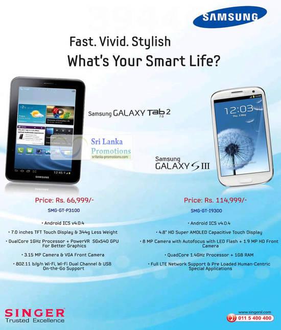 Samsung Galaxy Tab 2, S III