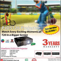 Read more about Viewsonic PJD5126 Projector Features & Price 30 Sep 2012