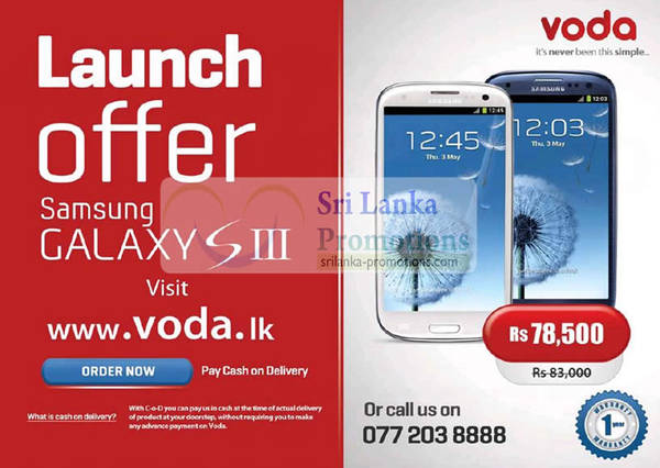 Featured image for Voda Samsung Galaxy S III Special Launch Offer 30 Sep 2012