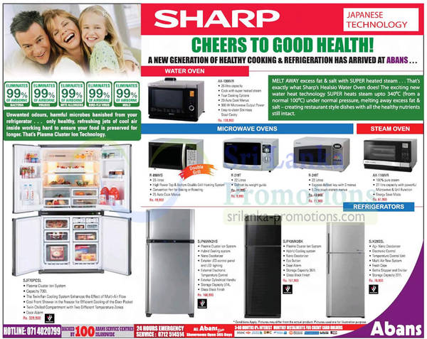 Featured image for Abans Sharp Microwave Ovens & Fridge Features & Offers 20 Oct 2012