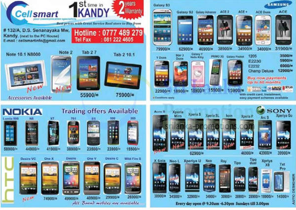 Featured image for Cellsmart (Celltronics) Smartphones Price Offers 21 Oct 2012