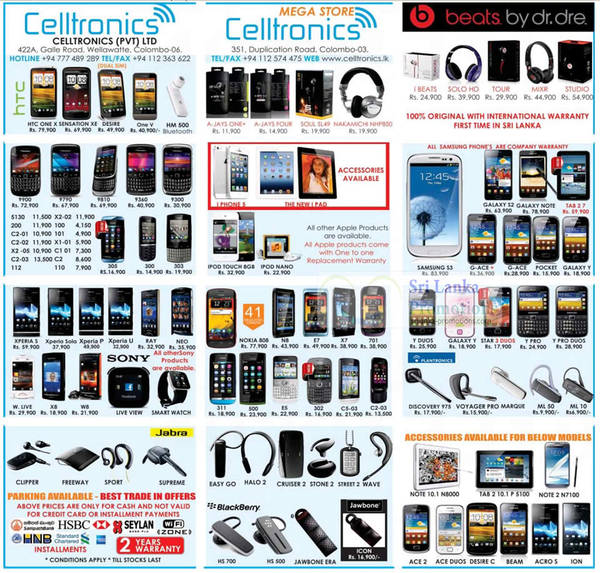 Featured image for Celltronics Smartphones & Mobile Phones Price List Offers 30 Sep 2012