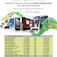 Read more about Etisalat Up To 40% Off Smartphones, Tablets, Dongles & Routers 23 - 31 Oct 2012