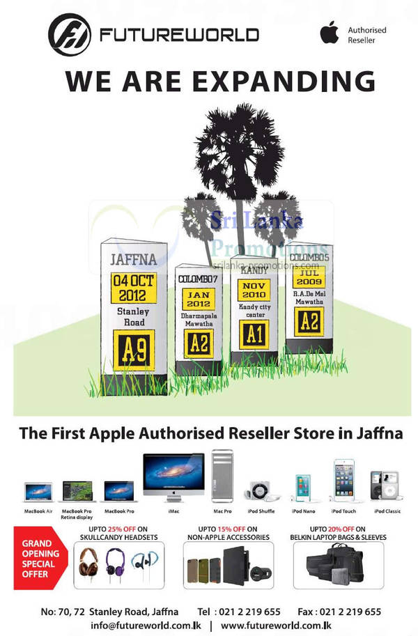 Featured image for Futureworld Opens Apple Reseller Store In Jaffna 4 Oct 2012