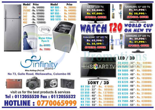 Featured image for Infinity Store (Mitsu) Fridge, Washer & TV Offers 7 Oct 2012