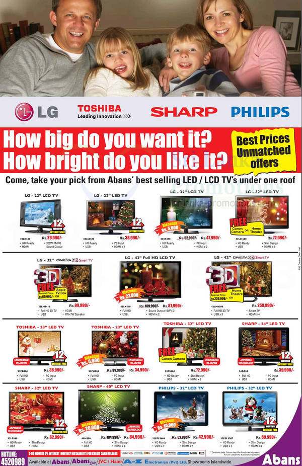 Featured image for Abans DVD Players, Home Theatre Systems & LED TV Offer 28 Oct 2012
