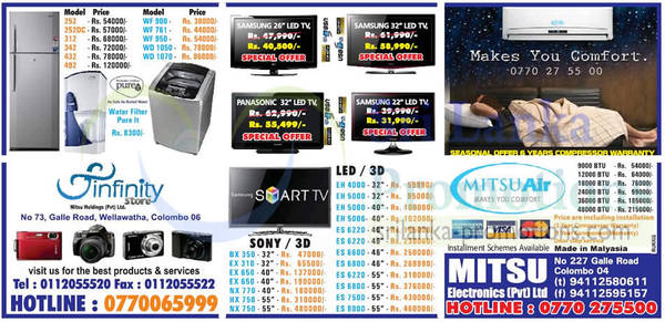 Featured image for Infinity Store (Mitsu) Fridge, Washer & TV Offers 14 Oct 2012
