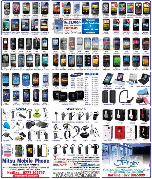 Featured image for Mitsu Mobile Phone Smartphones & Mobile Phones Price List Offers 30 Sep 2012