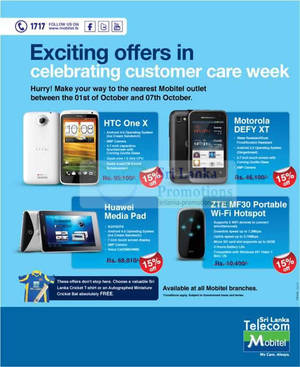 Featured image for Mobitel Smartphones 15% Off Promotion Price Offers 1 – 7 Oct 2012