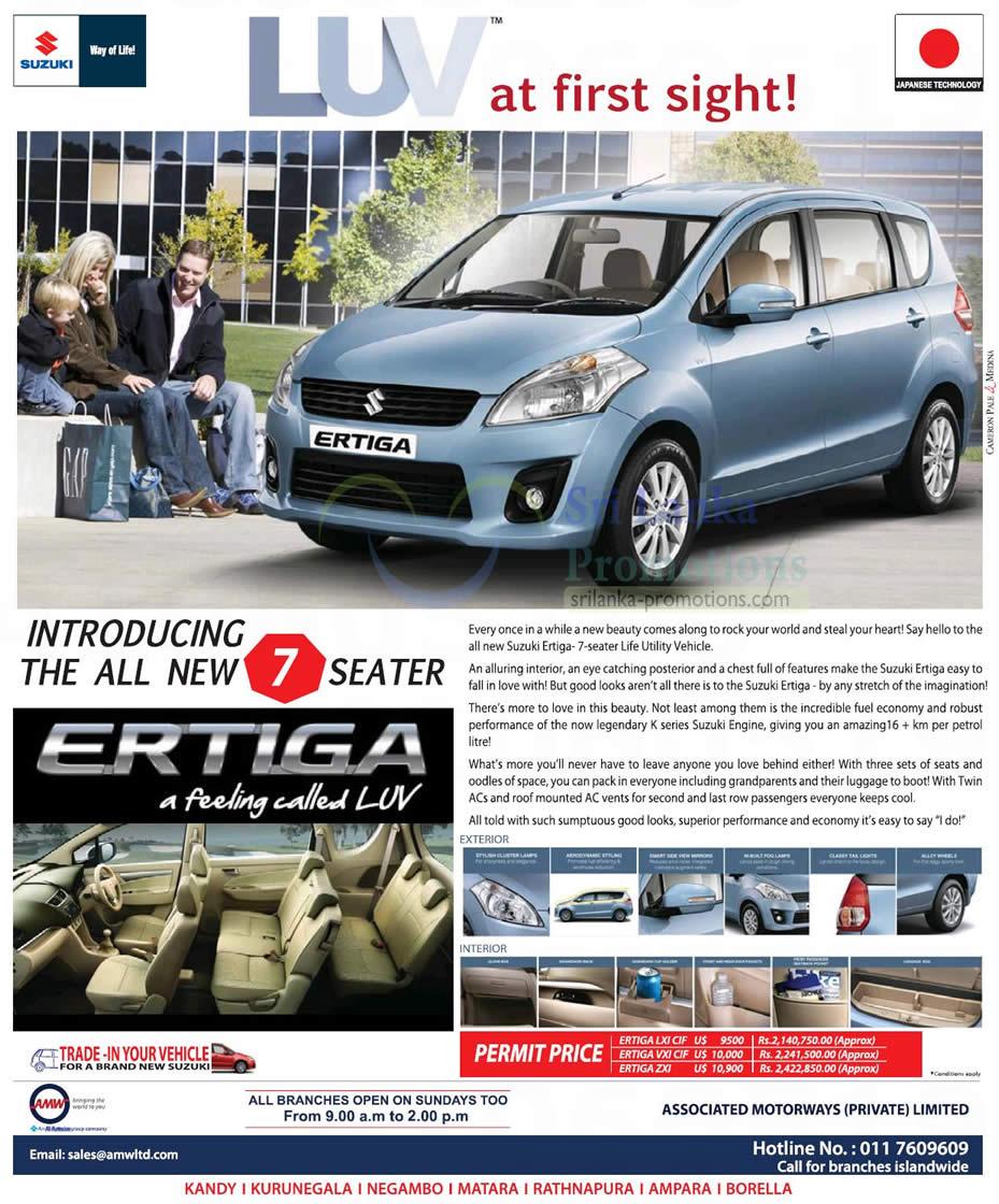 suzuki ertiga mpv features amp price 7 oct 2012