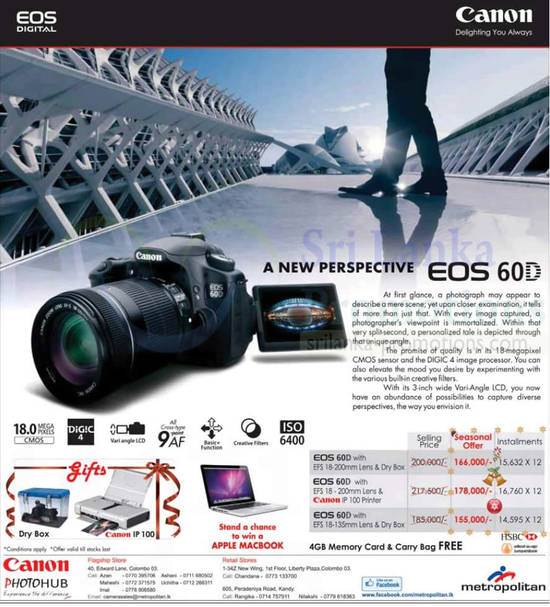 20 Dec Canon EOS 60D Digital Camera Price Change