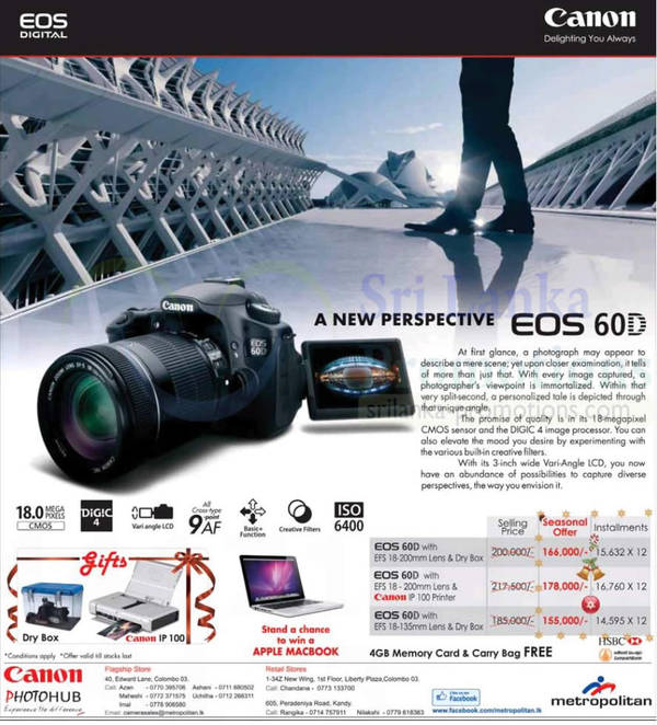 Featured image for Canon EOS 60D DSLR Digital Camera Features & Price 23 Nov 2012