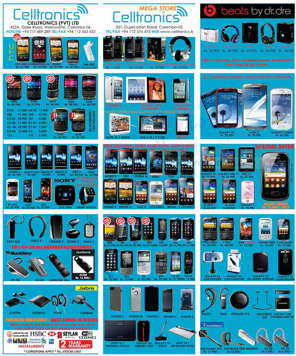 Featured image for Celltronics Smartphones & Mobile Phones Price List Offers 4 Nov 2012