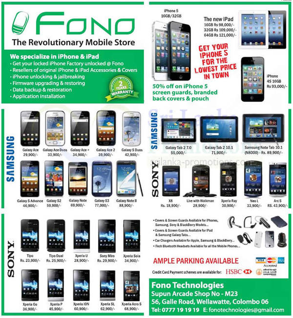 Featured image for Fono Technologies Mobile Smartphones & Tablets Offers 18 Nov 2012