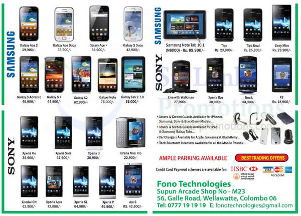 Featured image for Fono Technologies Mobile Smartphones & Tablets Offers 4 Nov 2012