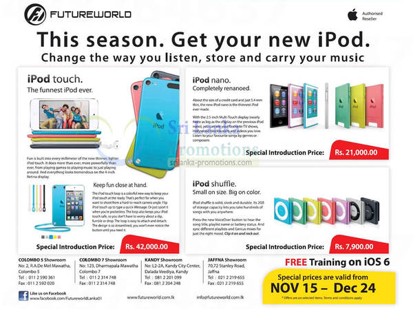 Featured image for Future World Apple iPod Offers 19 Nov 2012